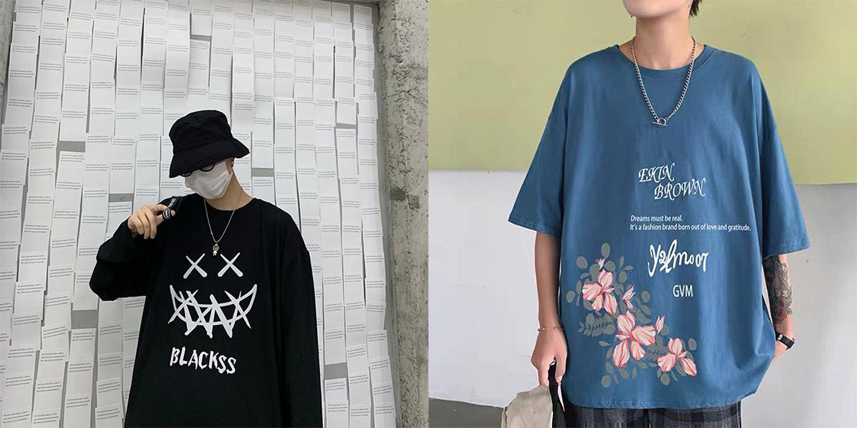 mua áo thun form rộng nam bạn cũng cần phải lưu ý của kiểu áo
